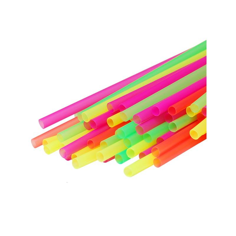 Трубочка для мол. коктейля одноцветная
