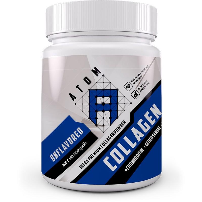 АТОМ Collagen Ca+Chondroitin+Glucosamine Powder, 200г
