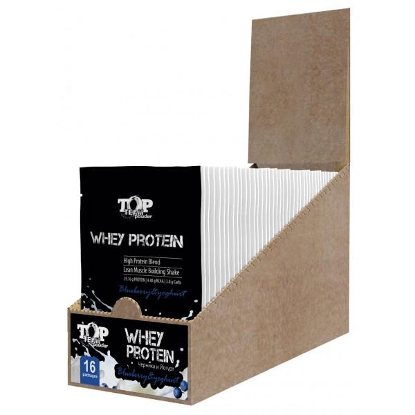 Top Team Whey Protein, шоубокс 16 пакетов