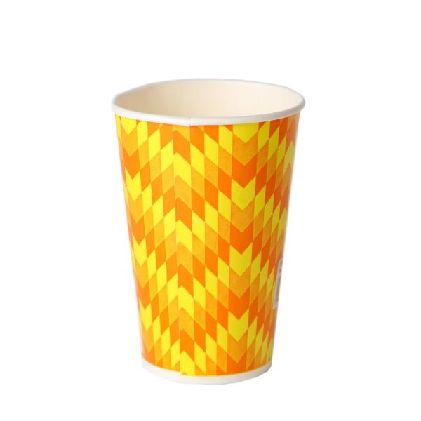"""Бумажный одноразовый стакан """"Зигзаг"""", 500мл"""