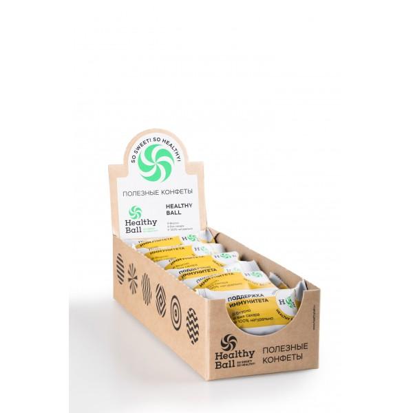 Полезные конфеты HealthyBall Immuno, 12шт.*30гр.