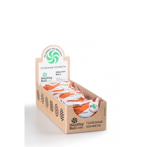 Полезные конфеты HealthyBall Energy, 12шт.*30гр.