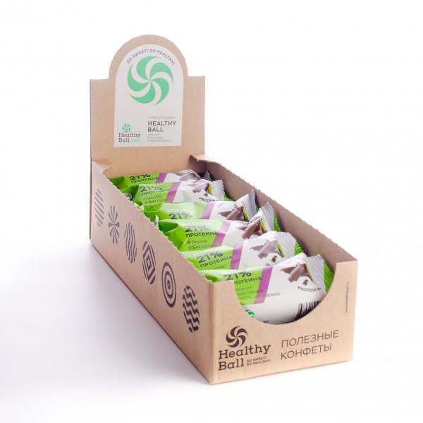 Полезные конфеты HealthyBall Protein шоколад, 12шт.*28гр.
