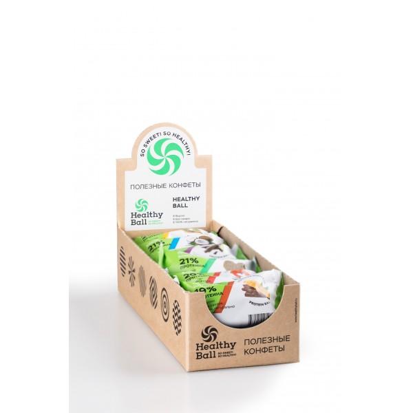 Полезные конфеты HealthyBall Protein Mix, 12шт.*28гр.