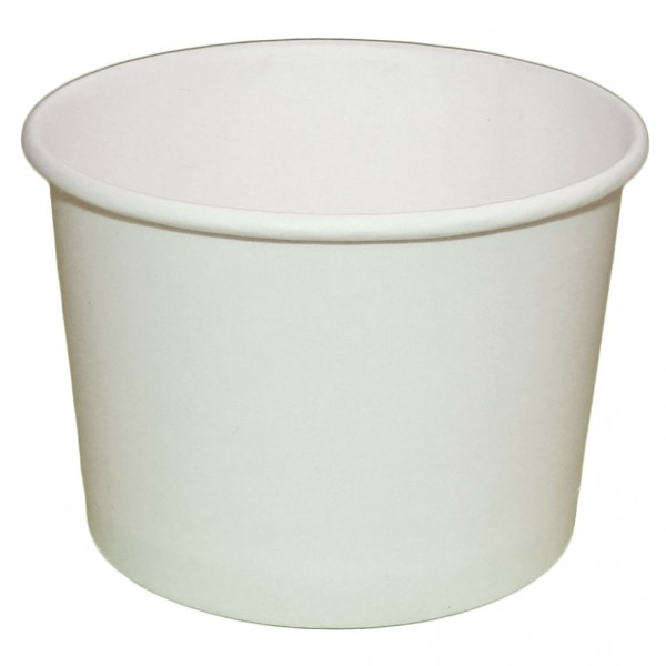 Креманка для мороженого белая, бумажная