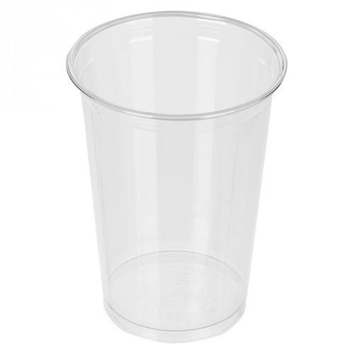 Стакан пластиковый, прозрачный, 400 мл