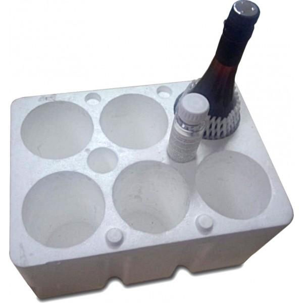 Пенопластовый ящик для стеклобутылки