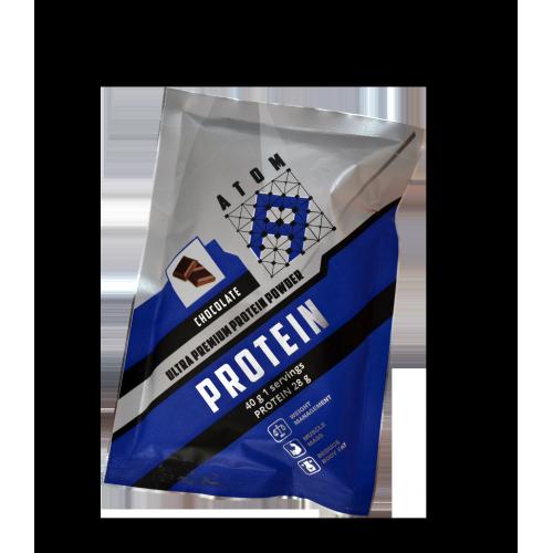 ATOM Protein Powder, шоубокс 16 пакетов